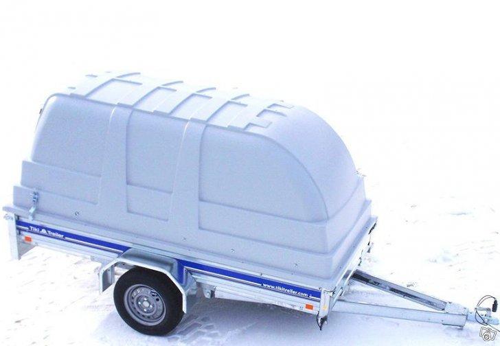 Släpvagn Tiki C-275P med kåpa, totalvikt 750 kg, ej bromsad