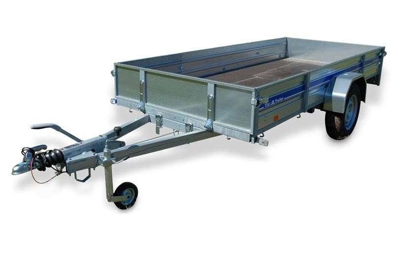 Släpvagn tiki CP350RB, totalvikt 1000 kg, bromsad