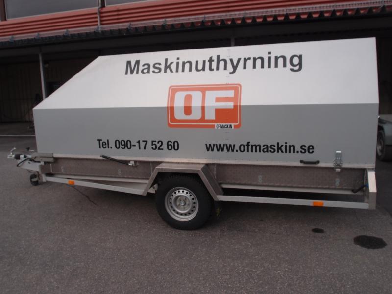 Släpvagn 3S med kåpa, totalvikt 1000 kg, bromsad