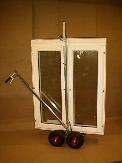 Fönstertransportvagn för fönster, dörrar o skivor